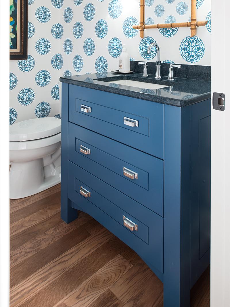 Blue Vanity Cabinet