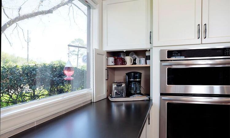 beautiful window view appliance garage
